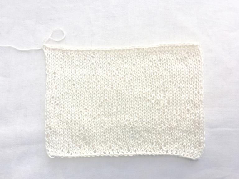 編み物ゲージの編み方・数え方・調整方法