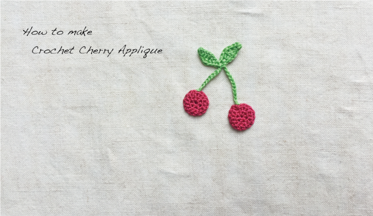 【かぎ針編み】さくらんぼモチーフ「母の日カード」の作り方