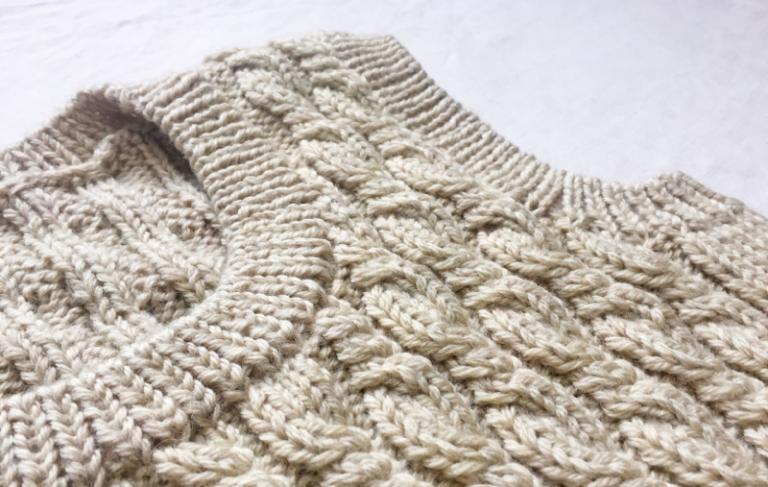 ヴォーグ 棒針編み通信講座(入門科)⑤ なわ編み模様のベスト