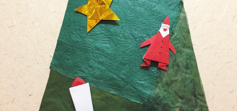 掛け軸みたいに飾れる、和のクリスマスツリーの作り方