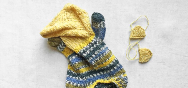 初めての手編みパペット(指人形・操り人形)と編み図掲載本