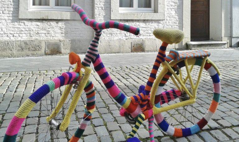 旅の編み物支度