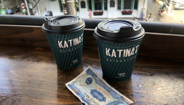 KATINAT SAIGON KAFEのテラス席でのんびり(ベトナム旅行記 7)