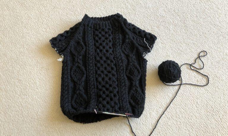 michiyoさんのアランセーター、2着目編み始めました